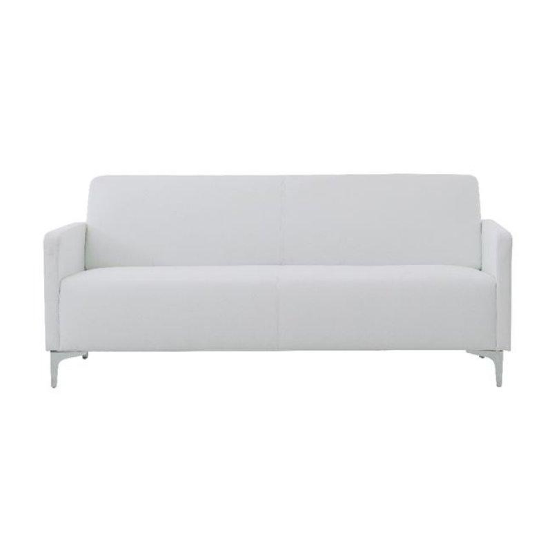 """Καναπές """"STYLE"""" διθέσιος από pu σε λευκό χρώμα 112x71x72"""