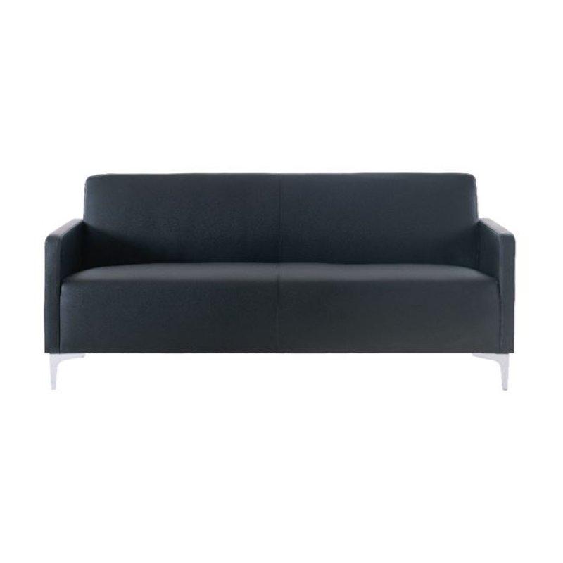 """Καναπές """"STYLE"""" διθέσιος από pu σε μαύρο χρώμα 112x71x72"""