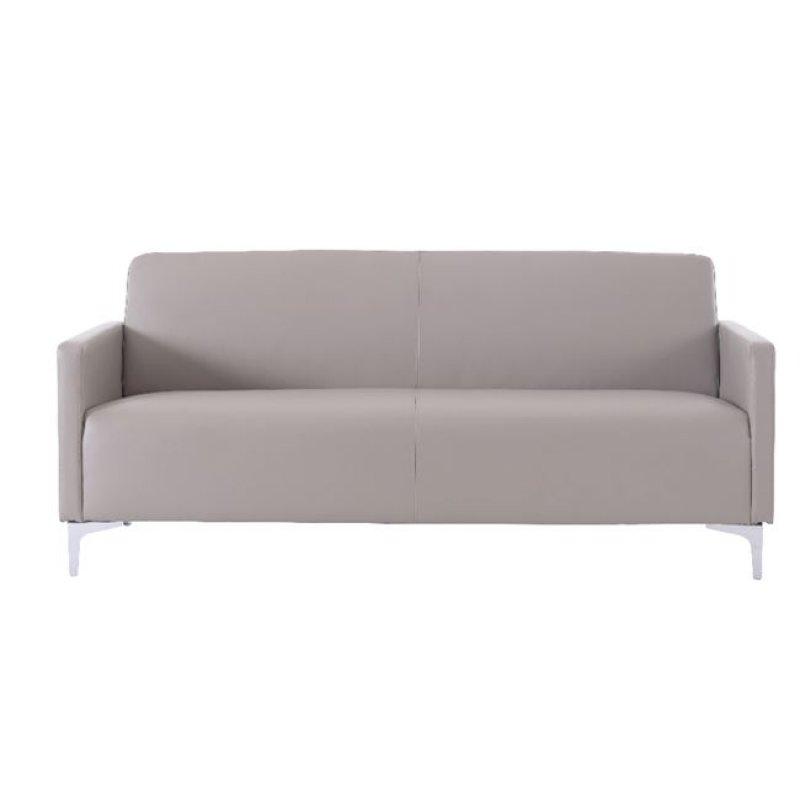 """Καναπές """"STYLE"""" διθέσιος από pu σε sand grey χρώμα 112x71x72"""