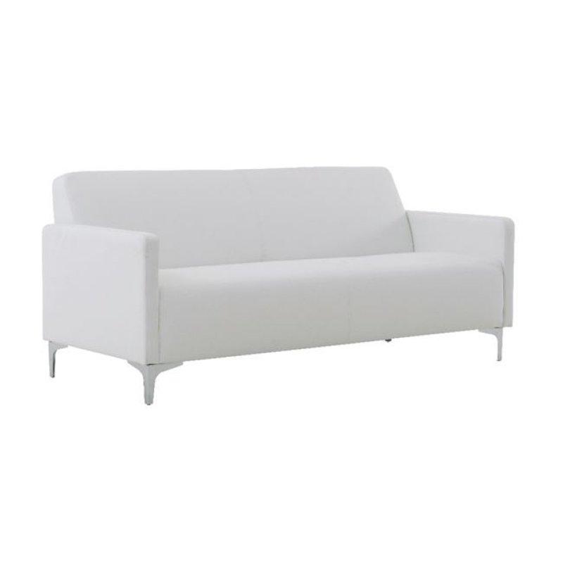 """Καναπές """"STYLE"""" τριθέσιος από pu σε λευκό χρώμα 164x71x72"""