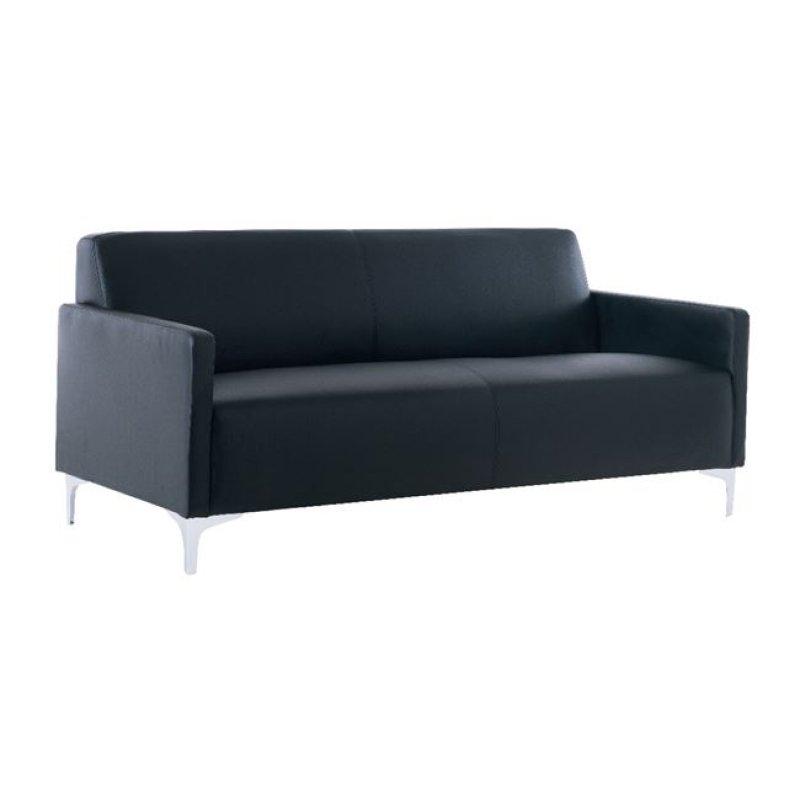 """Καναπές """"STYLE"""" τριθέσιος από pu σε μαύρο χρώμα 164x71x72"""