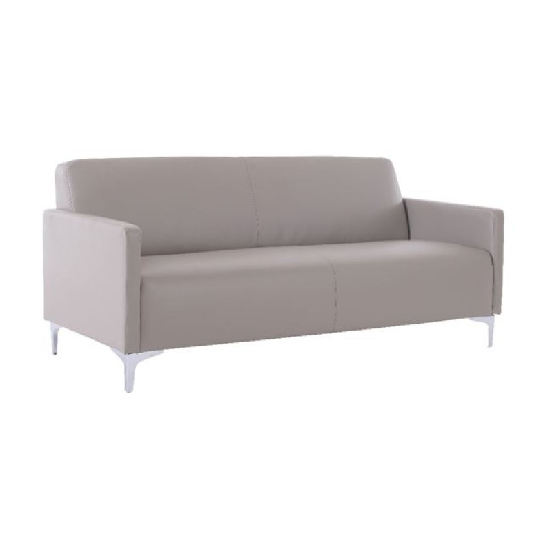 """Καναπές """"STYLE"""" τριθέσιος pu σε sand grey χρώμα 164x71x72"""