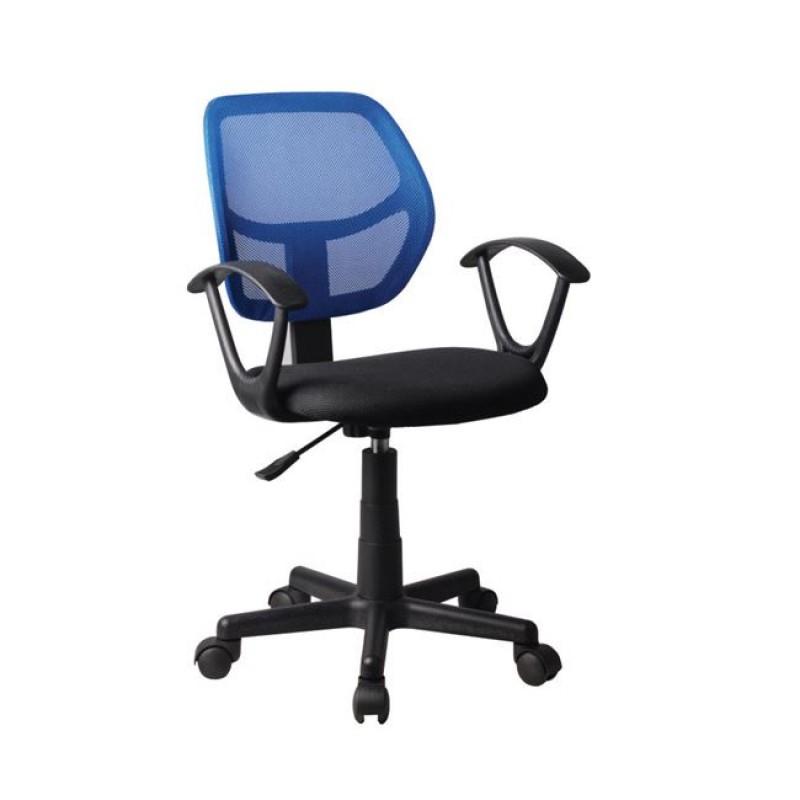 Πολυθρόνα εργασίας από ύφασμα mesh σε μπλε-μαύρο χρώμα 50x50x80/92