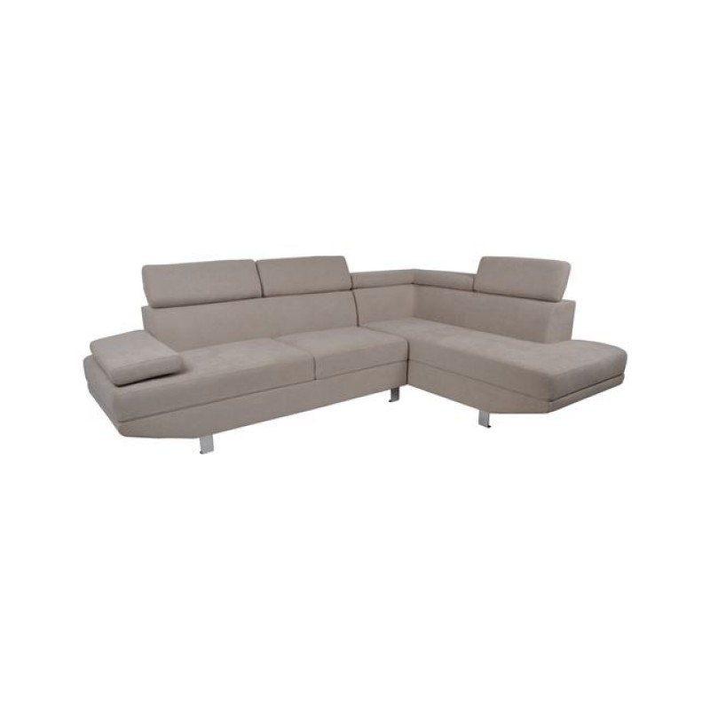 """Καναπές αριστερή γωνία """"SECTOR"""" υφασμάτινος σε χρώμα εκρού 262x185x85"""