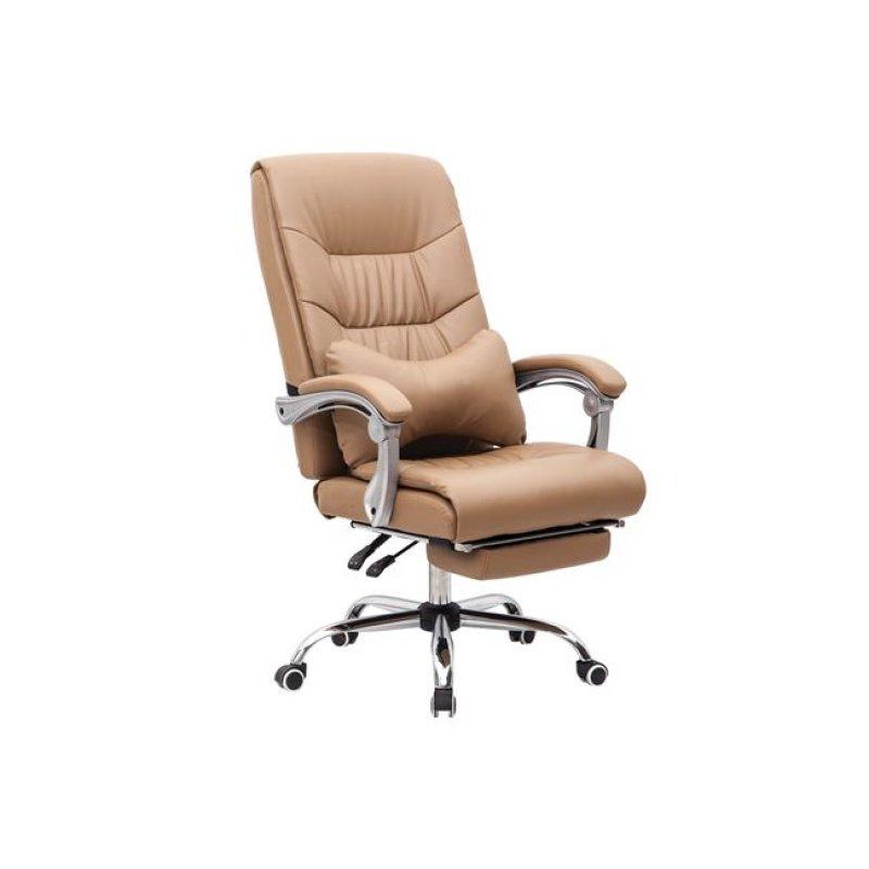 """Πολυθρόνα διευθυντή """"RELAX"""" από τεχνόδερμα σε χρώμα μπέζ 65x78x112/120"""