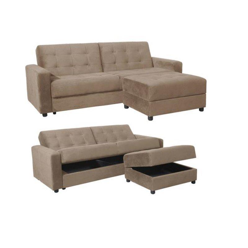 """Καναπές-κρεβάτι """"JACKSON"""" από ύφασμα σε χρώμα μπεζ 193x81x77"""