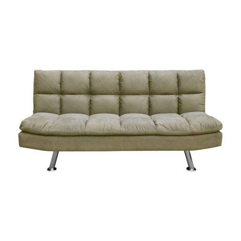 """Καναπές-κρεβάτι """"RAMADA"""" από ύφασμα σε χρώμα μπεζ 182x92x93"""