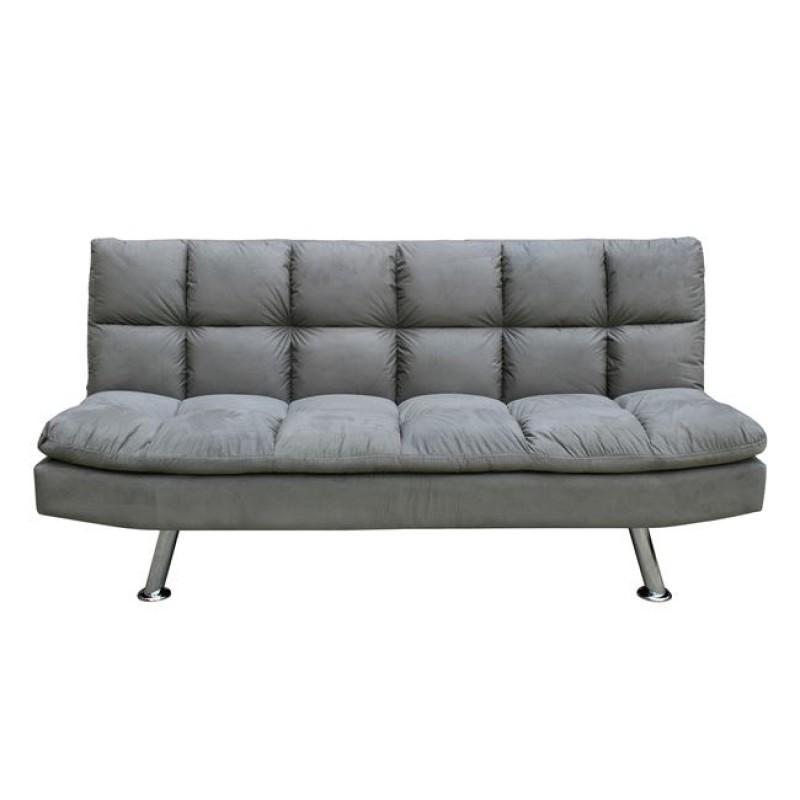 """Καναπές-κρεβάτι """"RAMADA"""" από ύφασμα σε χρώμα ανοιχτό γκρι 182x92x93"""