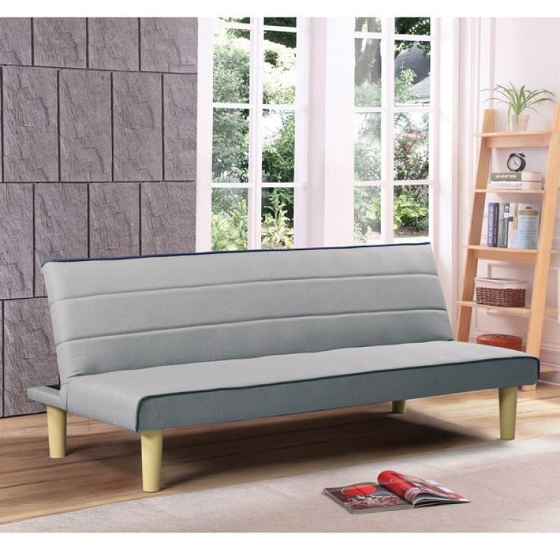"""Καναπές-κρεβάτι """"PABLO"""" από ύφασμα σε γκρί χρώμα 210x89x84"""