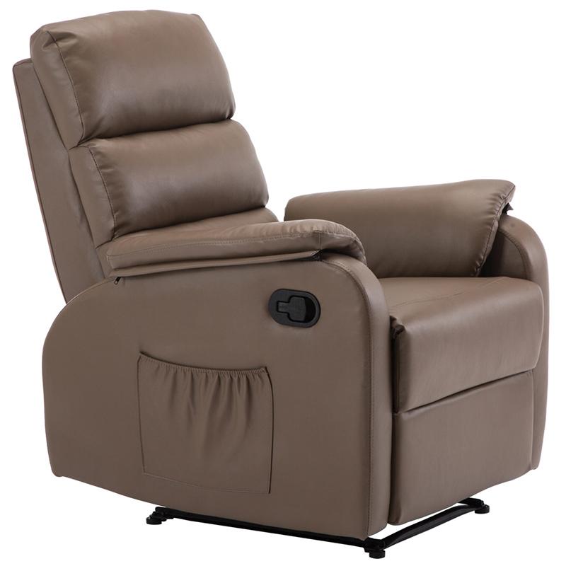"""Πολυθρόνα """"COMFORT"""" relax από τεχνόδερμα σε χρώμα cappuccino 79x97x101"""