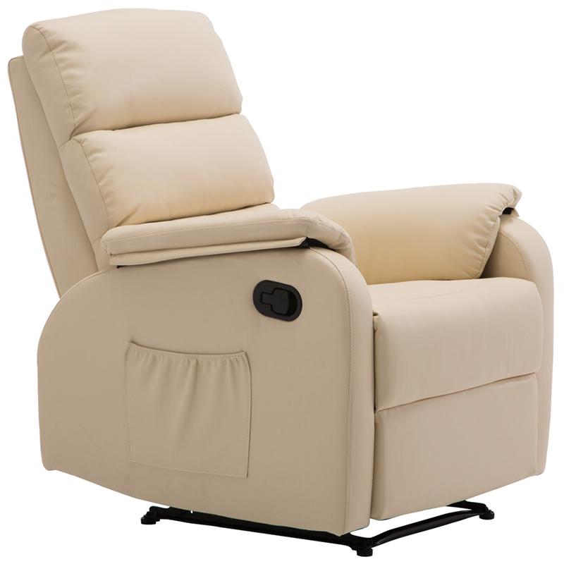 """Πολυθρόνα """"COMFORT"""" relax από τεχνόδερμα σε χρώμα μπεζ 79x97x101"""