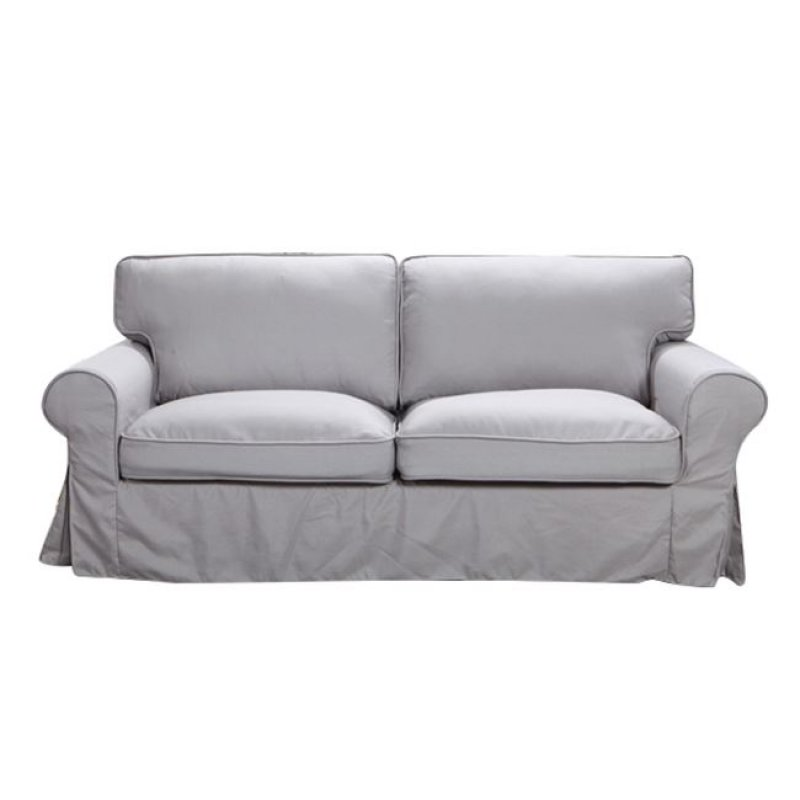 """Καναπές """"MARVEL"""" τριθέσιος υφασμάτινος σε ανοιχτό γκρι 209x89x90"""
