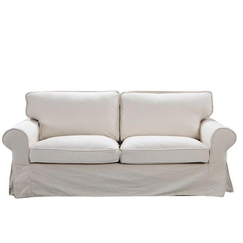 """Καναπές """"MARVEL"""" τριθέσιος υφασμάτινος σε sand 209x89x90"""