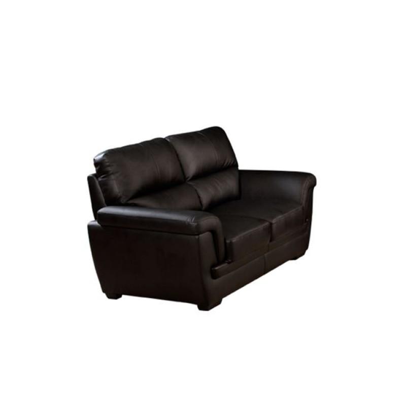 """Καναπές """"ELINA"""" διθέσιος bonded leather-pvc σε σκούρο καφέ χρώμα 160x89x89"""