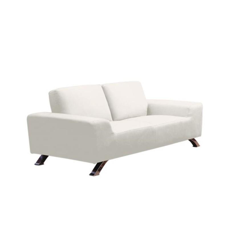 """Καναπές """"BANCO"""" διθέσιος υφασμάτινος σε λευκό χρώμα 180x90x75"""