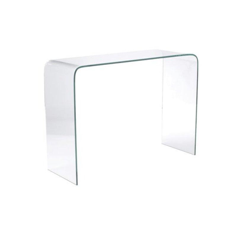 """Κονσόλα """"GLASSER"""" γυάλινη διάφανο 110x35x75"""