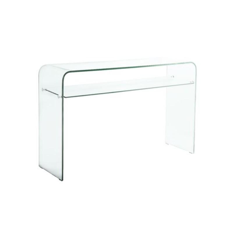 """Κονσόλα """"GLASSER"""" γύαλινη διαφανές 110x35x75"""