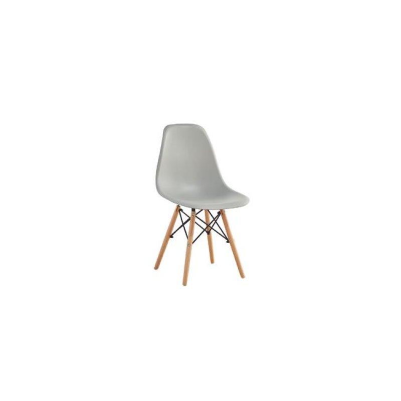 """Καρέκλα """"ART WOOD"""" ξύλινη-pp σε γκρι χρώμα 46x52x82"""