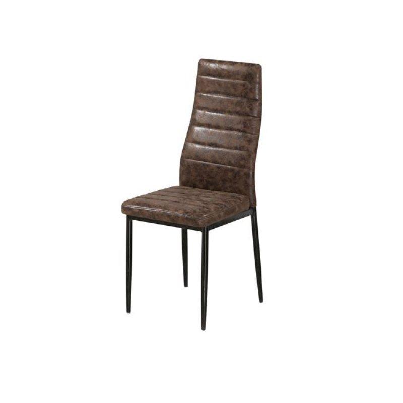 """Καρέκλα """"JETTA"""" υφασμάτινη (σουετ) σε καφέ χρώμα 40x50x95"""