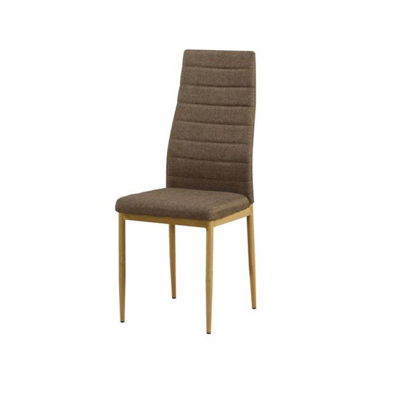 """Καρέκλα """"JETTA"""" υφασμάτινη σε καφέ χρώμα 40x50x95"""