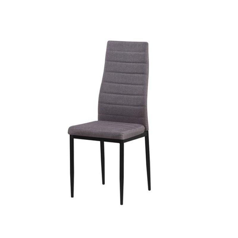 """Καρέκλα """"JETTA"""" υφασμάτινη σε ανοιχτό καφέ χρώμα 40x50x95"""