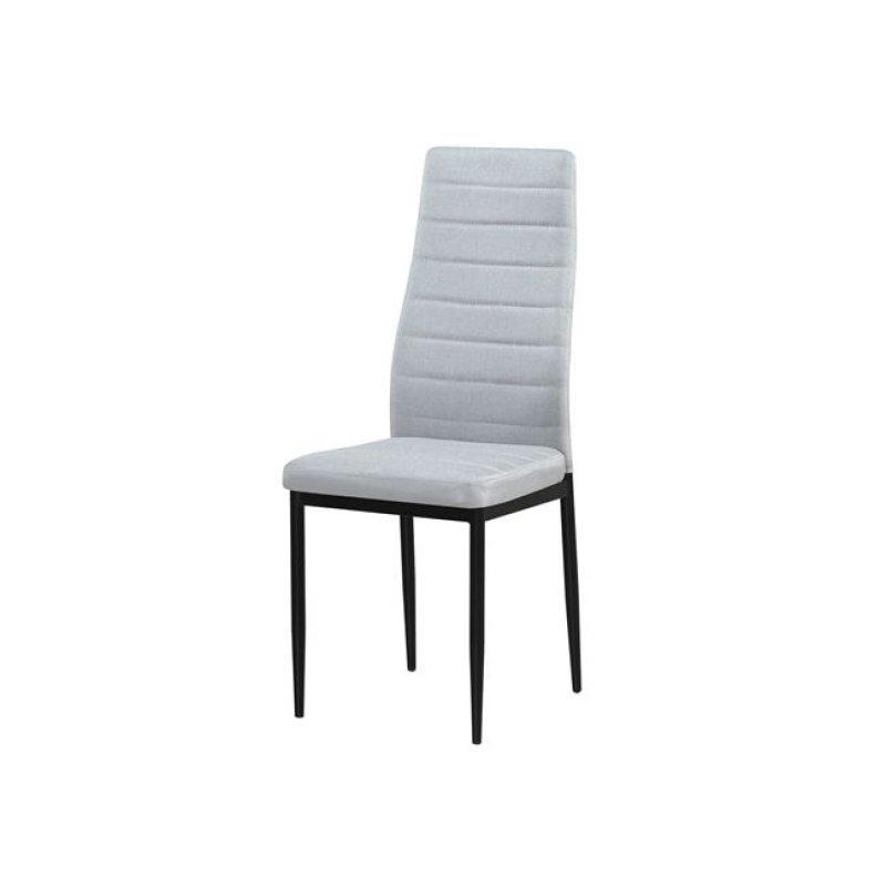 """Καρέκλα """"JETTA"""" μεταλλική-pvc σε cappuccino χρώμα 40x50x95"""