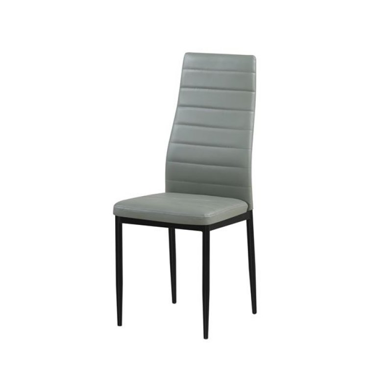 """Καρέκλα """"JETTA"""" μεταλλική-pvc σε γκρι χρώμα 40x50x95"""