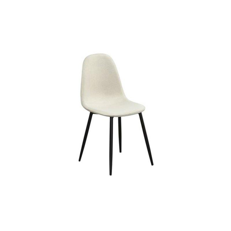 """Καρέκλα """"CELINA"""" μεταλλική-υφασμάτινη σε χρώμα μπεζ 45x54x85"""