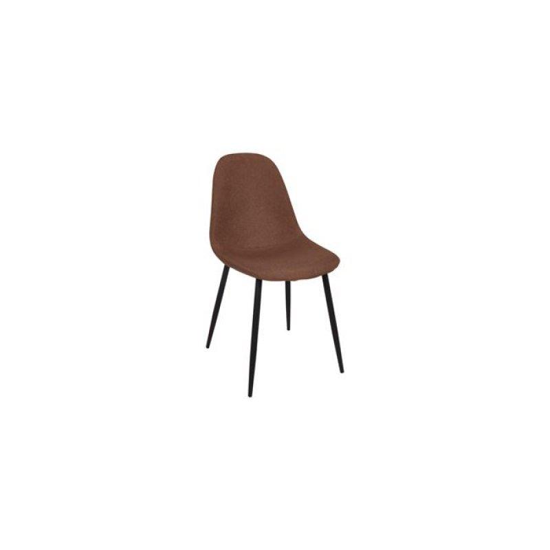 """Καρέκλα """"CELINA"""" μεταλλική-υφασμάτινη σε χρώμα καφέ 45x54x85"""