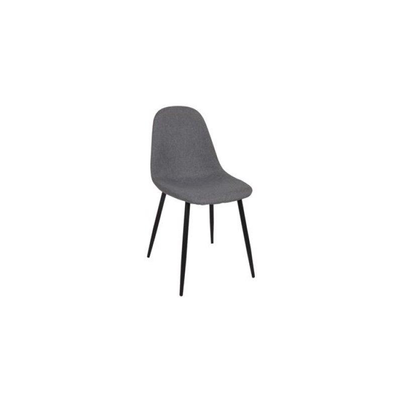 """Καρέκλα """"CELINA"""" μεταλλική-υφασμάτινη σε χρώμα γκρι 45x54x85"""