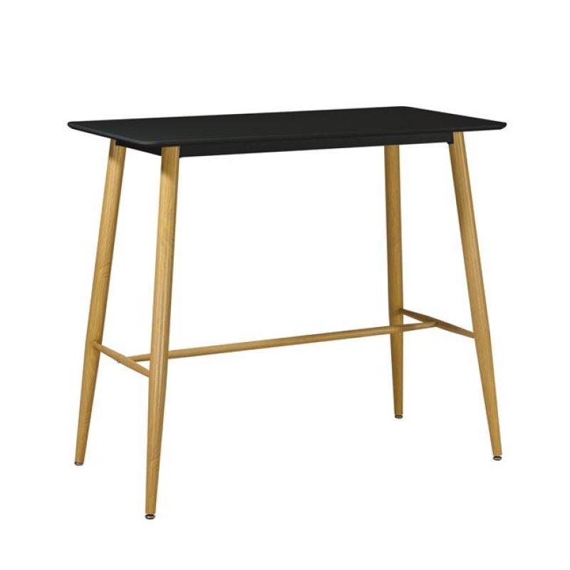 """Τραπέζι μπαρ """"LAVIDA"""" μεταλλικό σε φυσικό χρώμα 120x60x106"""