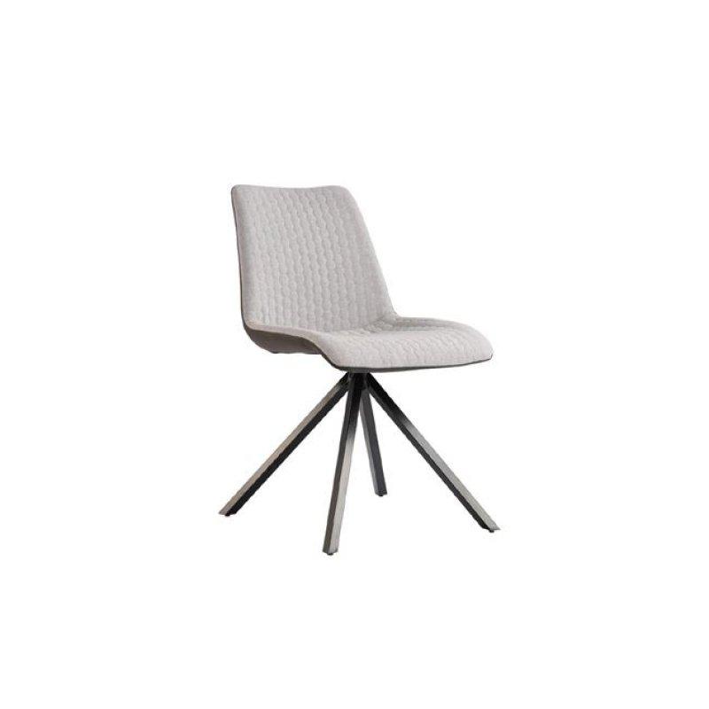 """Καρέκλα """"PENNY"""" μεταλλική-υφασμάτινη σε λευκό χρώμα 49x62x91"""
