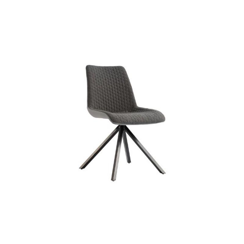 """Καρέκλα """"PENNY"""" μεταλλική-υφασμάτινη σε γκρι χρώμα 49x62x91"""