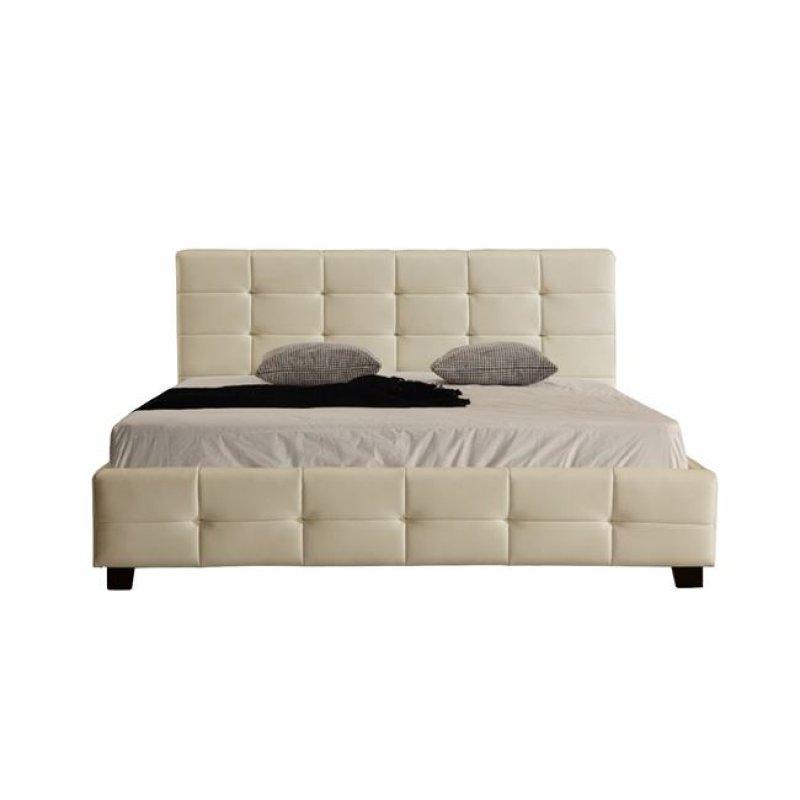 """Κρεβάτι """"DREAM"""" διπλό από τεχνόδεμα σε μπεζ χρώμα 168x218x95"""