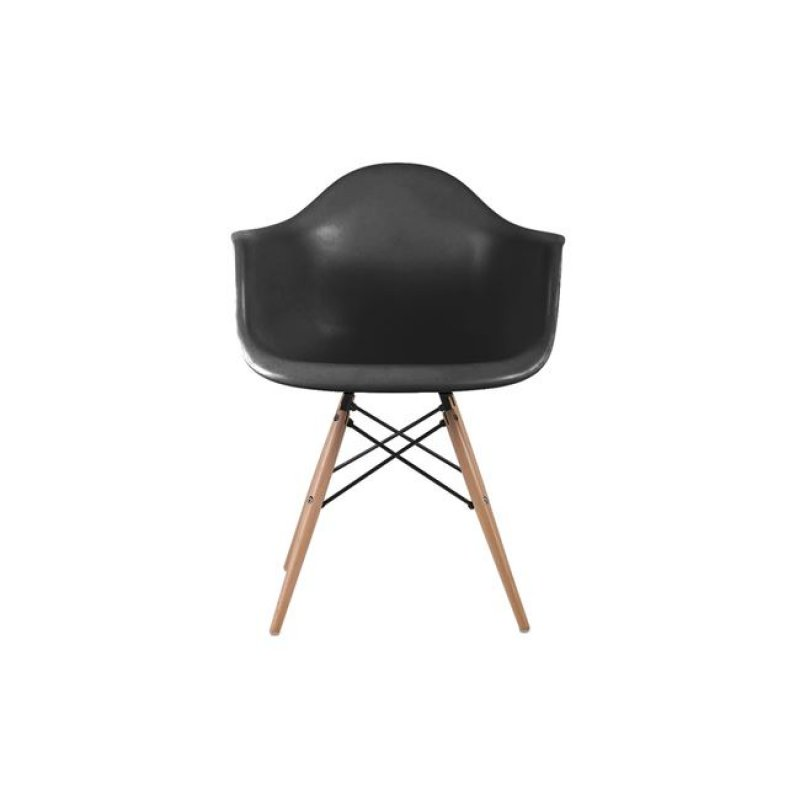 """Πολυθρόνα """"ALEA Wood"""" πολυπροπυλενίου σε χρώμα μαύρο 62x58x81"""