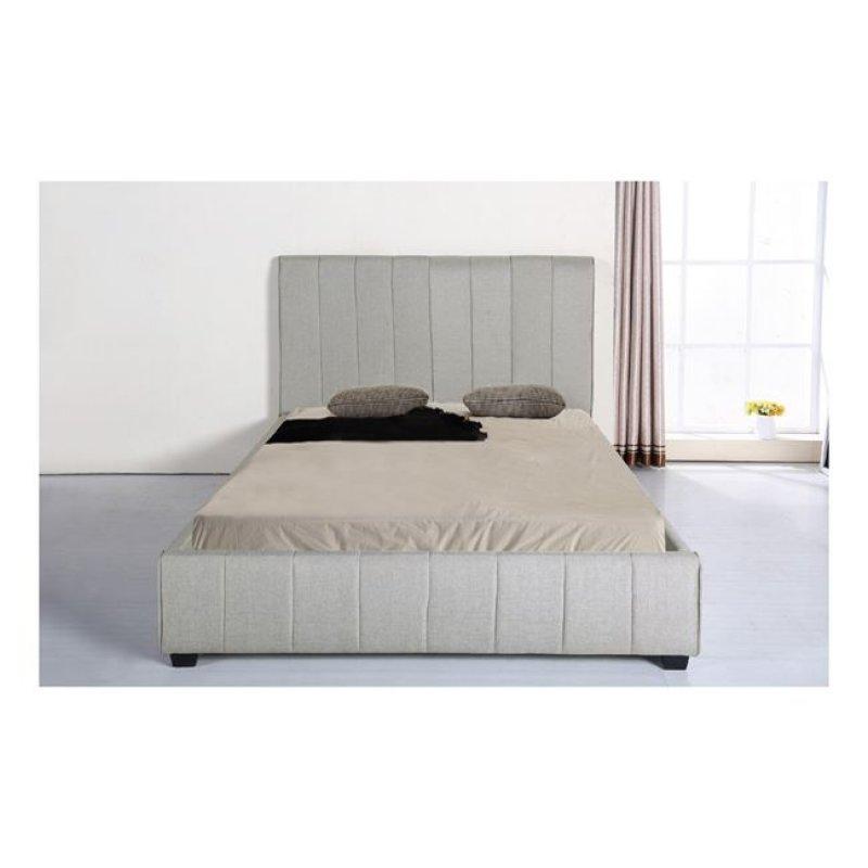 """Κρεβάτι """"LEXUS"""" διπλό από ύφασμα σε ανοιχτό γκρι χρώμα 188x213x120"""