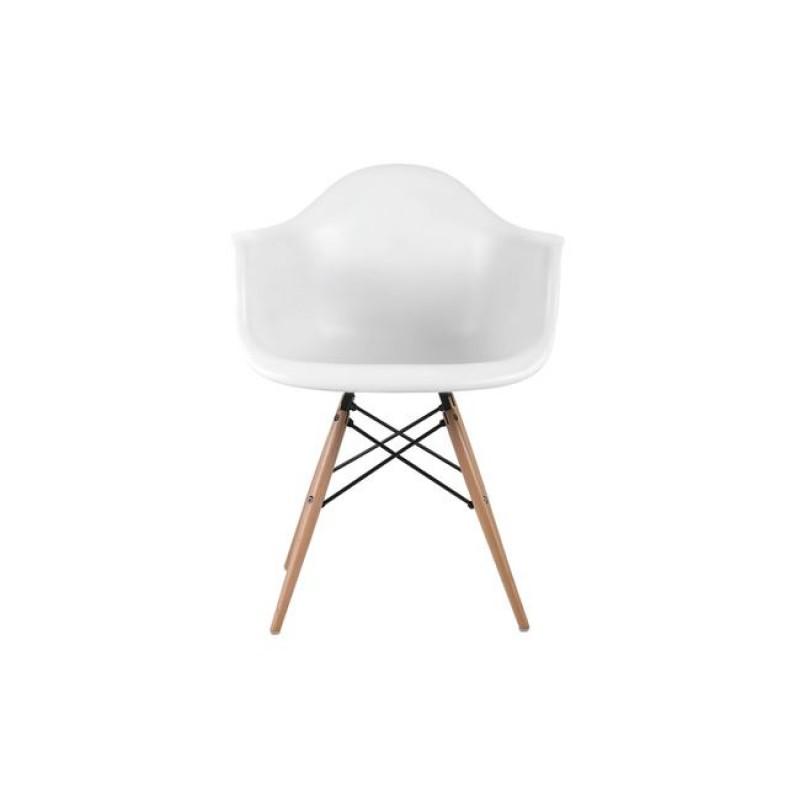 """Πολυθρόνα """"ALEA Wood"""" πολυπροπυλενίου σε χρώμα λευκό 62x58x81"""