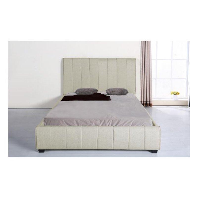 """Κρεβάτι """"LEXUS"""" διπλό από ύφασμα σε εκρού χρώμα 168x213x120"""