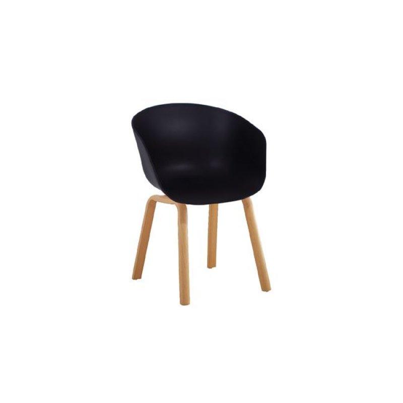 """Πολυθρόνα """"OPTIM"""" μεταλλική-pp σε μαύρο χρώμα 57x50x77"""
