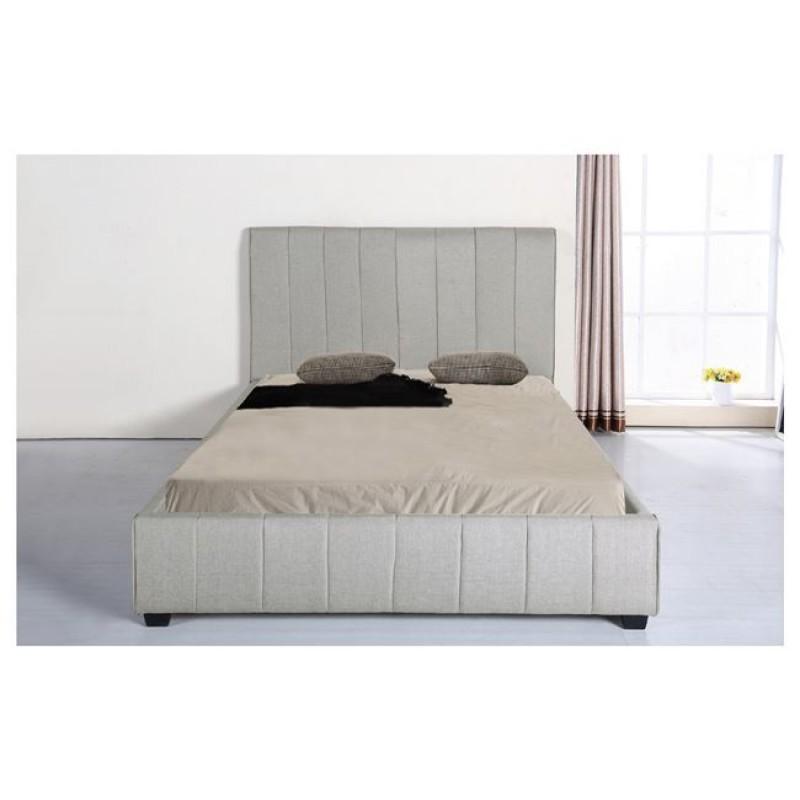 """Κρεβάτι """"LEXUS"""" διπλό από ύφασμα σε ανοιχτό γκρι χρώμα 168x213x120"""