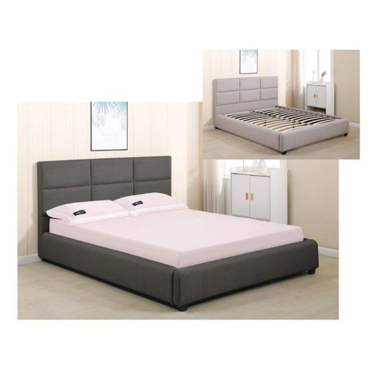 """Κρεβάτι """"MAXIM"""" διπλό απο ύφασμα σε χρώμα ανθρακί 173x217x101"""