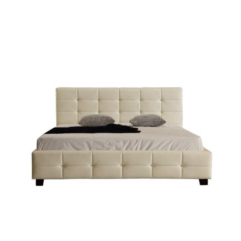 """Κρεβάτι """"DREAM"""" διπλό από τεχνόδερμα σε χρώμα μπεζ 158x218x95"""