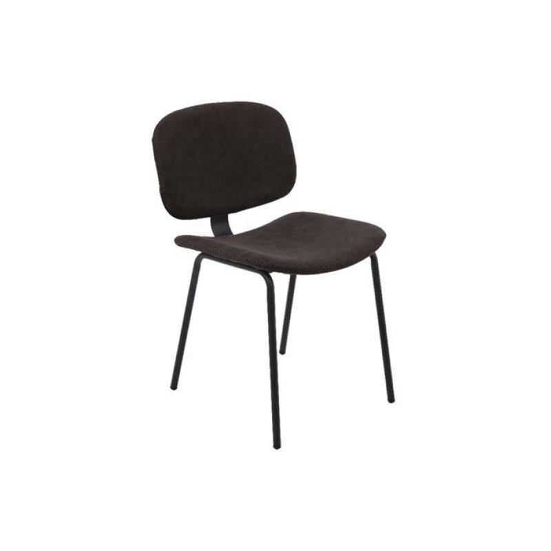 """Καρέκλα """"BARLEY"""" μεταλλική-pu σε vintage μαύρο χρώμα 47x54x79"""