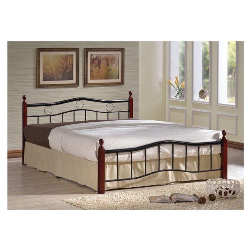 """Κρεβάτι """"VICTOR"""" διπλό μεταλλικό μαύρο χρώμα 148x202x82"""