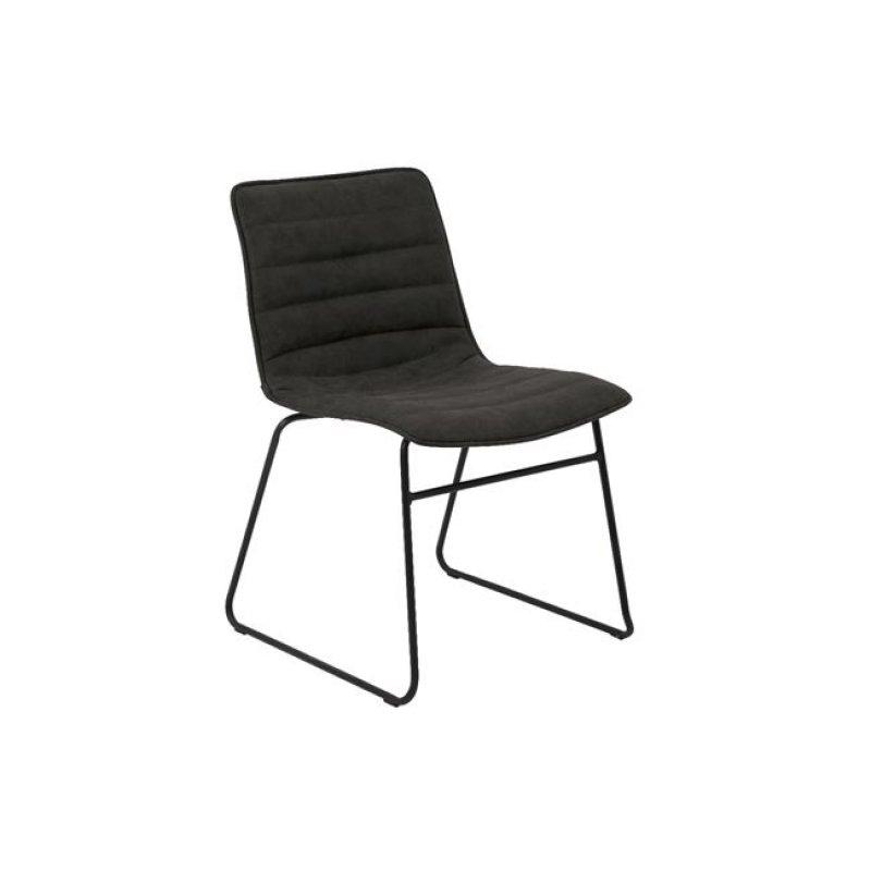 """Καρέκλα """"CONNEL"""" μεταλλική-pu σε χρώμα vintage μαύρο 45x58x76"""