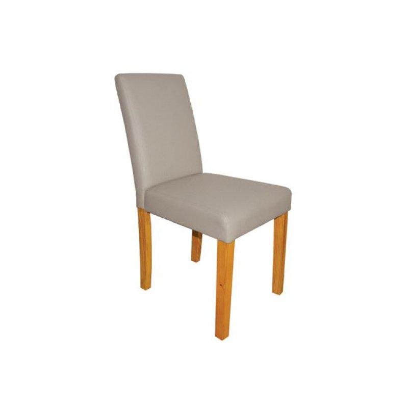 """Καρέκλα """"MALEVA-L"""" ξύλινη-pu σε χρώμα cappuccino 42x56x93"""