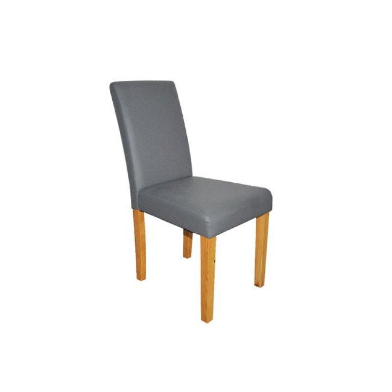 """Καρέκλα """"MALEVA-L"""" ξύλινη-pu σε χρώμα γκρι 42x56x93"""