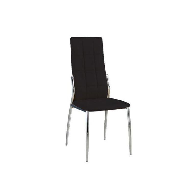 """Καρέκλα """"PRIMA K/D"""" χρωμίου-pvc σε χρώμα μαύρο 44x56x100"""