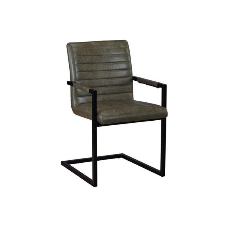 """Πολυθρόνα """"ALTO"""" μεταλλική-υφασμάτινη σε χρώμα vintage πράσινη 54x59x86"""