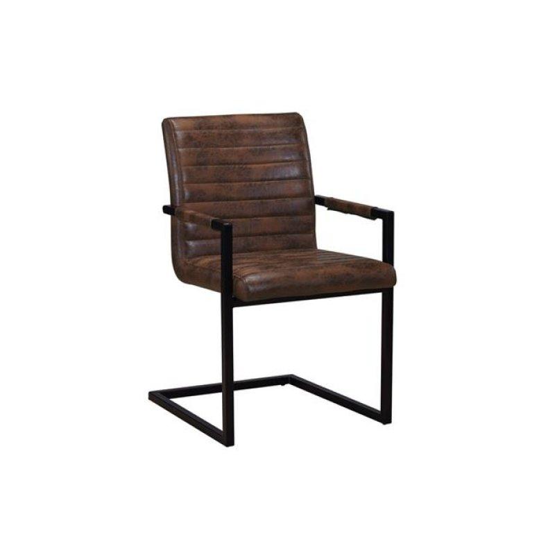 """Πολυθρόνα """"ALTO"""" μεταλλική-υφασμάτινη σε χρώμα vintage καφέ 54x59x86"""